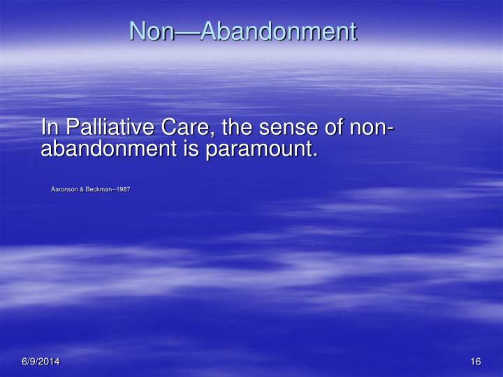 Non—Abandonment