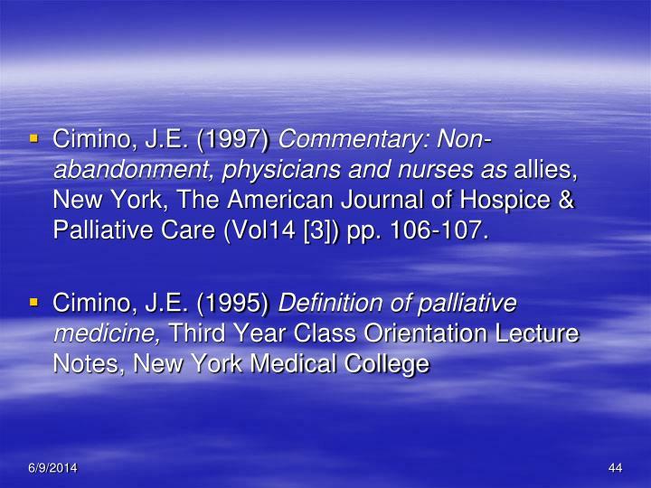 Cimino, J.E. (1997)