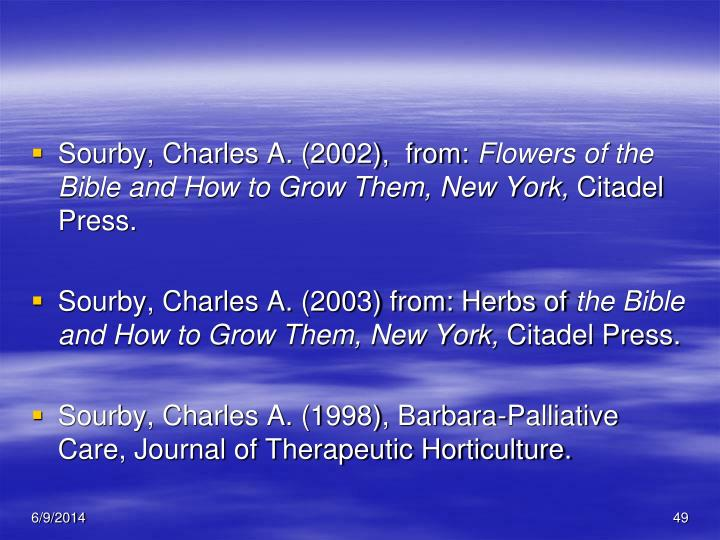 Sourby, Charles A. (2002),  from: