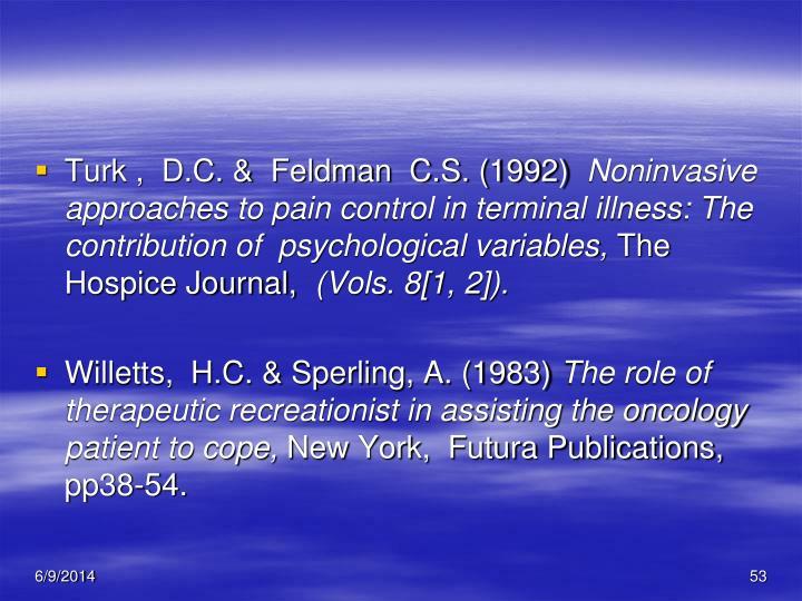 Turk ,  D.C. &  Feldman  C.S. (1992)