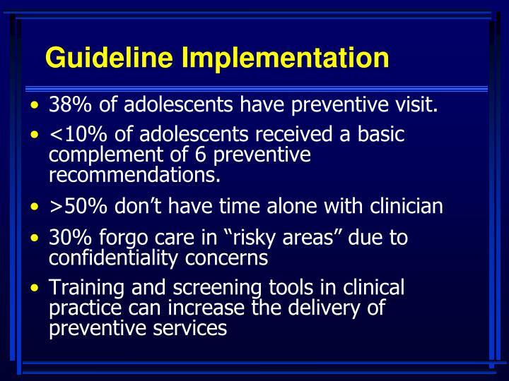 Guideline Implementation