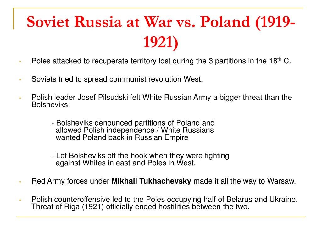 Soviet Russia at War vs. Poland (1919-1921)