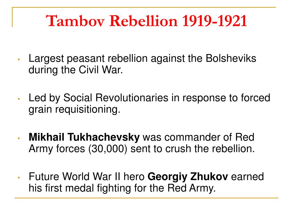 Tambov Rebellion 1919-1921