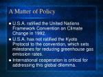 a matter of policy1
