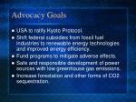 advocacy goals