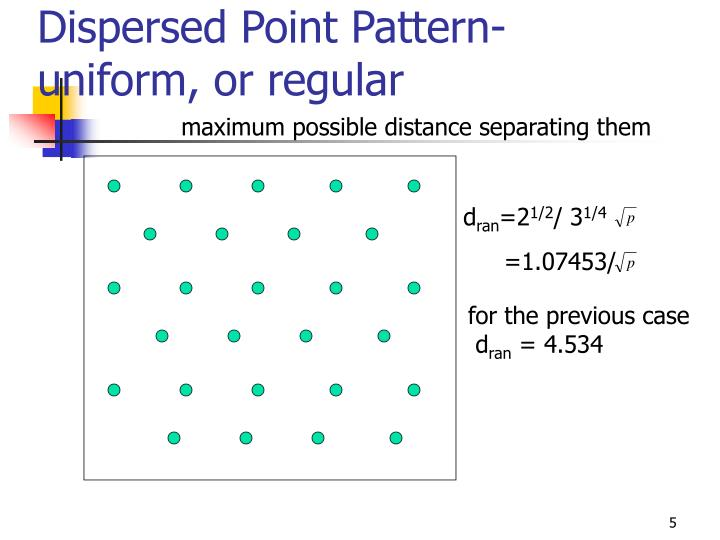 Dispersed Point Pattern- uniform, or regular