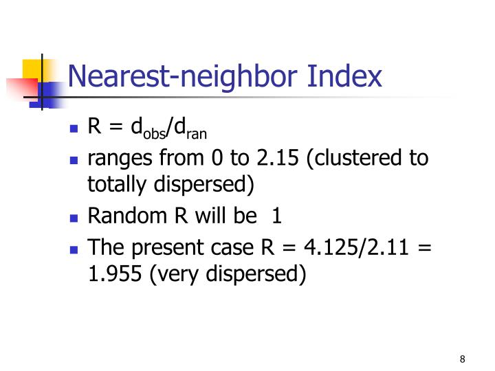 Nearest-neighbor Index