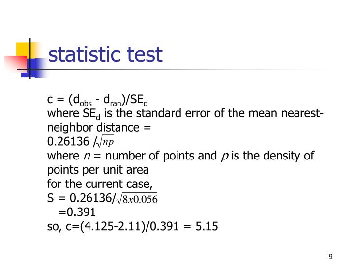 statistic test