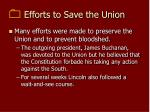 efforts to save the union