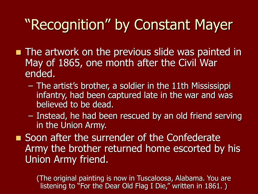 """Recognition"" by Constant Mayer"