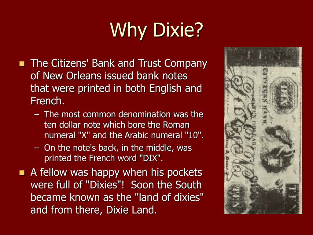 Why Dixie?