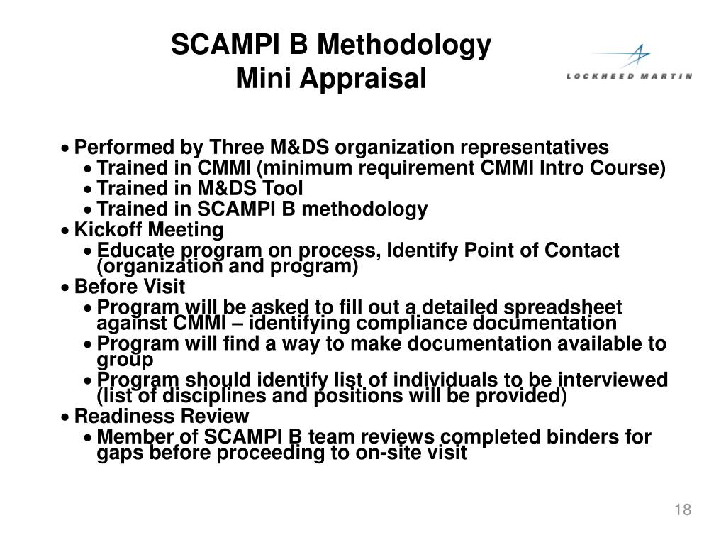 SCAMPI B Methodology