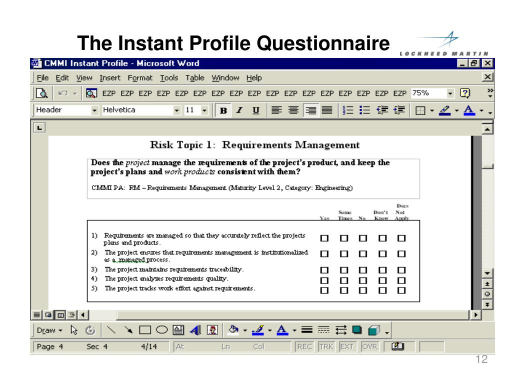 The Instant Profile Questionnaire
