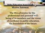 idaho education association mission statement