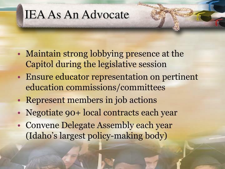 IEA As An Advocate