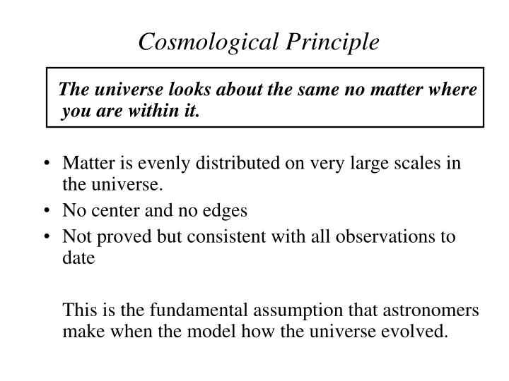 Cosmological Principle