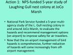 action 1 nps funded 5 year study of laughing gull nest colony at joco marsh