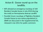action 8 goose round up on the landfills