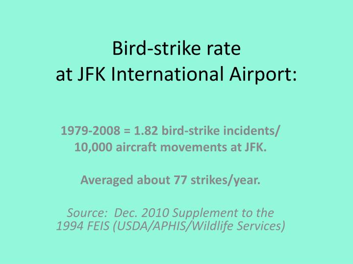 Bird-strike rate