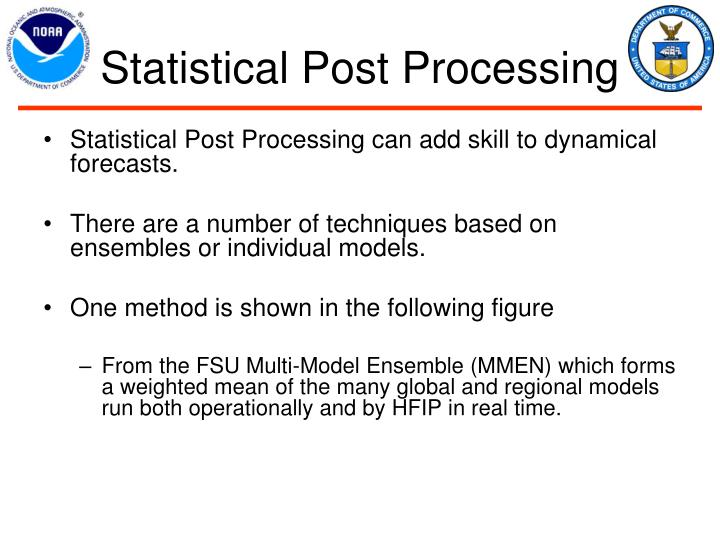 Statistical Post Processing