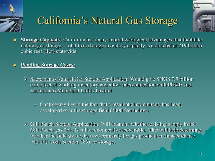 Sacramento Natural Gas Storage Project
