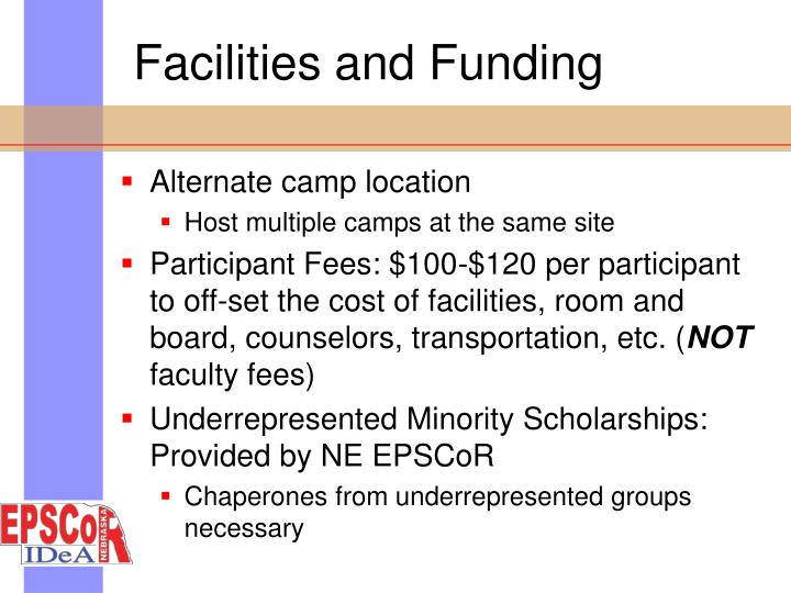 Facilities and Funding