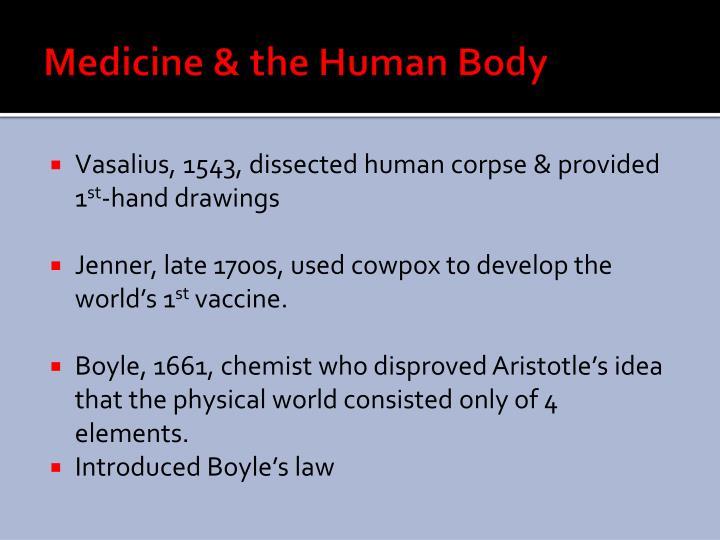 Medicine & the Human Body