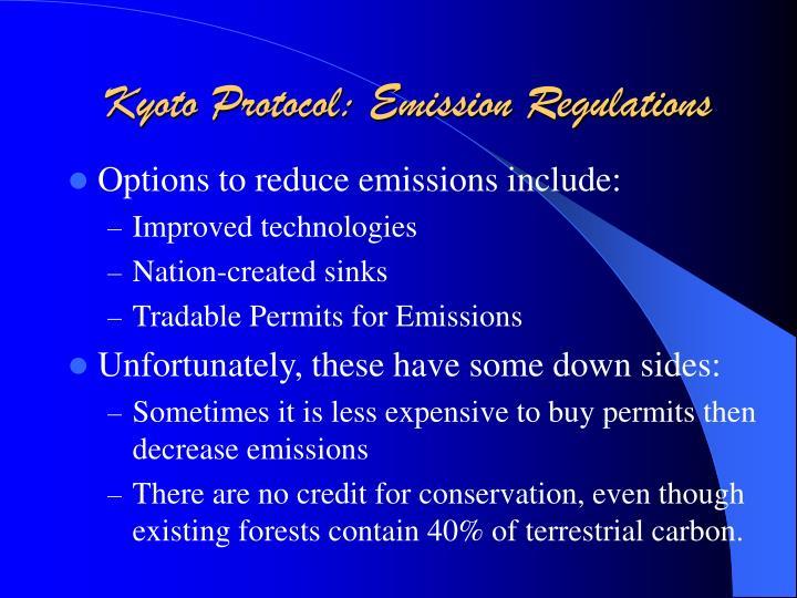 Kyoto Protocol: Emission Regulations