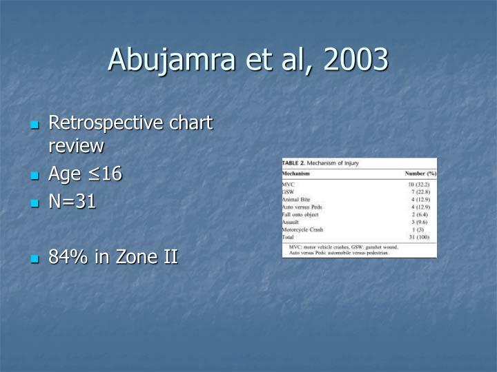 Retrospective chart review
