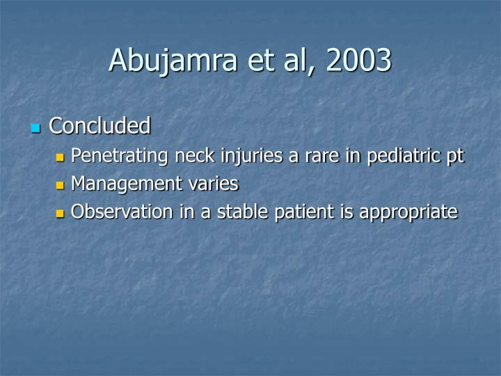 Abujamra et al, 2003