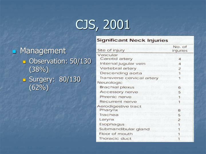 CJS, 2001