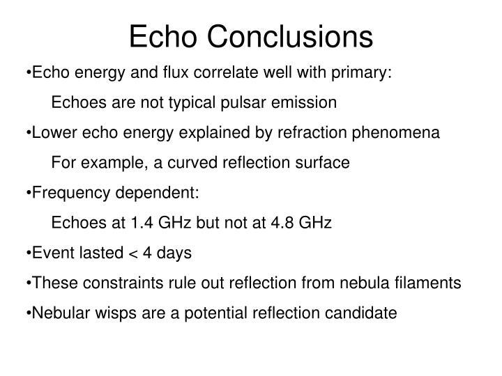 Echo Conclusions