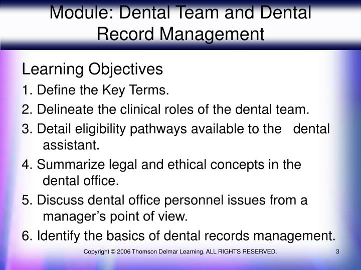 Module dental team and dental record management3