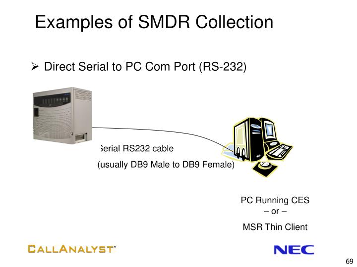 Examples of SMDR Collection