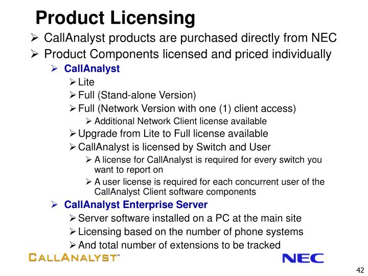 Product Licensing