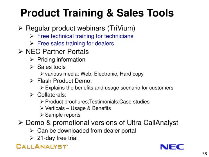 Product Training & Sales Tools