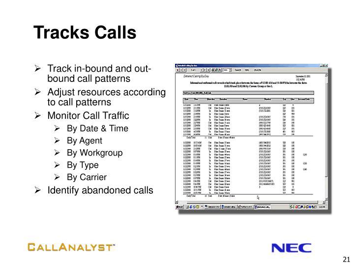 Tracks Calls