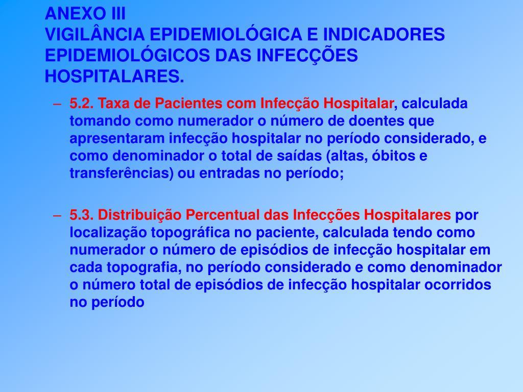 5.2. Taxa de Pacientes com Infecção Hospitalar