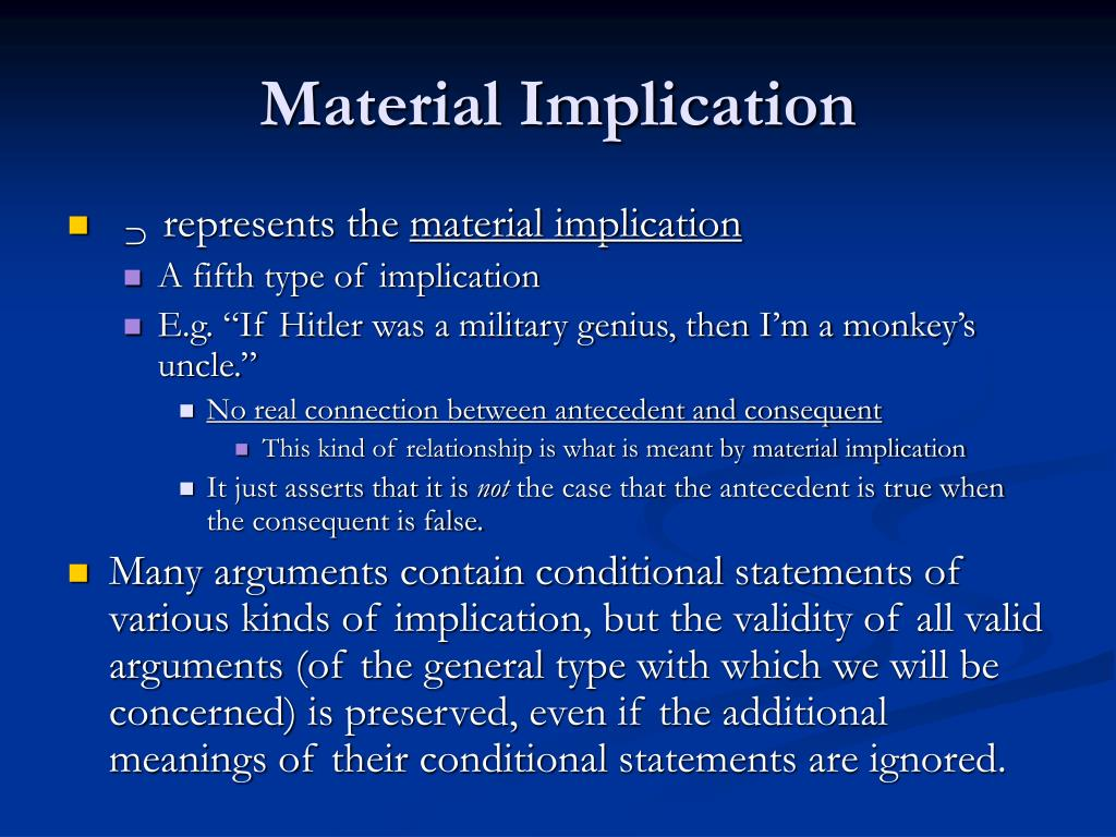 Material Implication