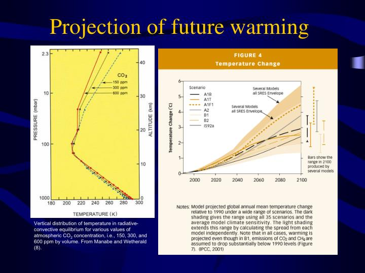 Projection of future warming