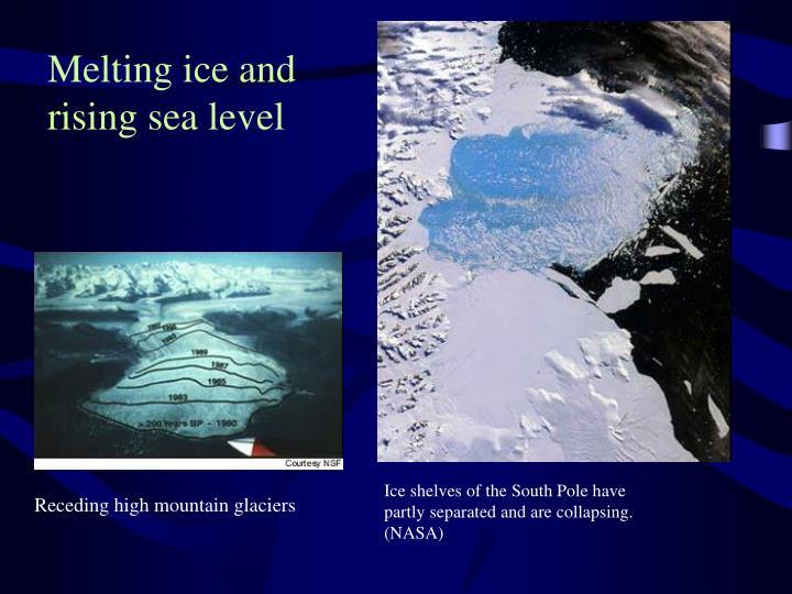 Melting ice and rising sea level