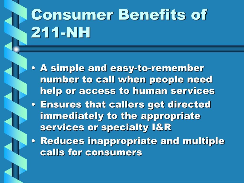Consumer Benefits of 211-NH