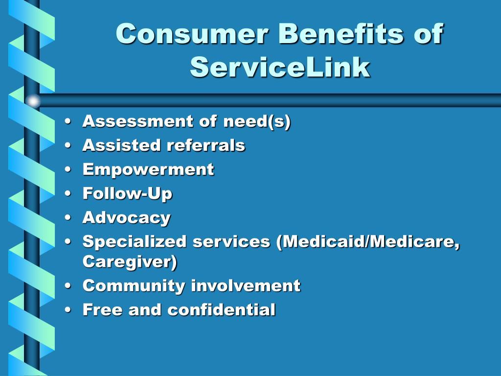 Consumer Benefits of ServiceLink