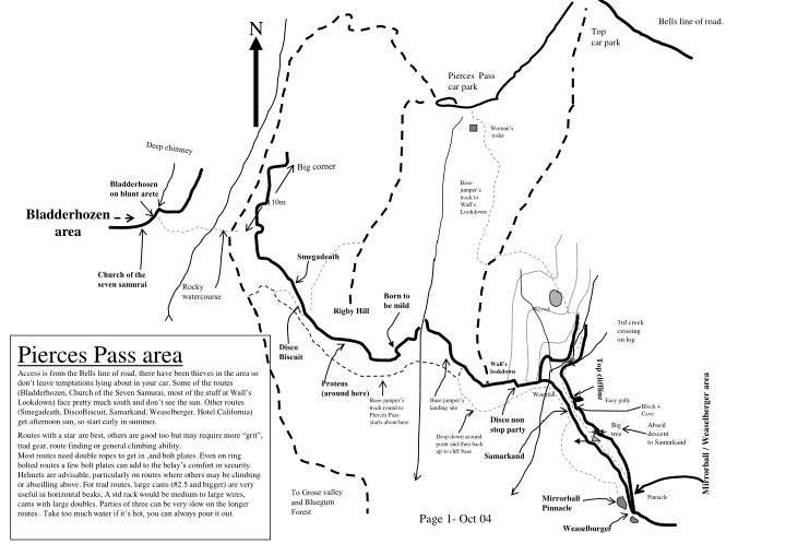Pierce s pass location map