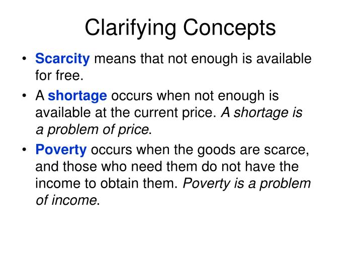 Clarifying Concepts
