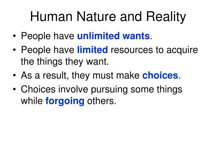 Human Nature and Reality