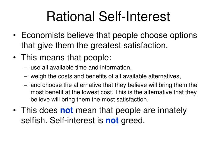 Rational Self-Interest