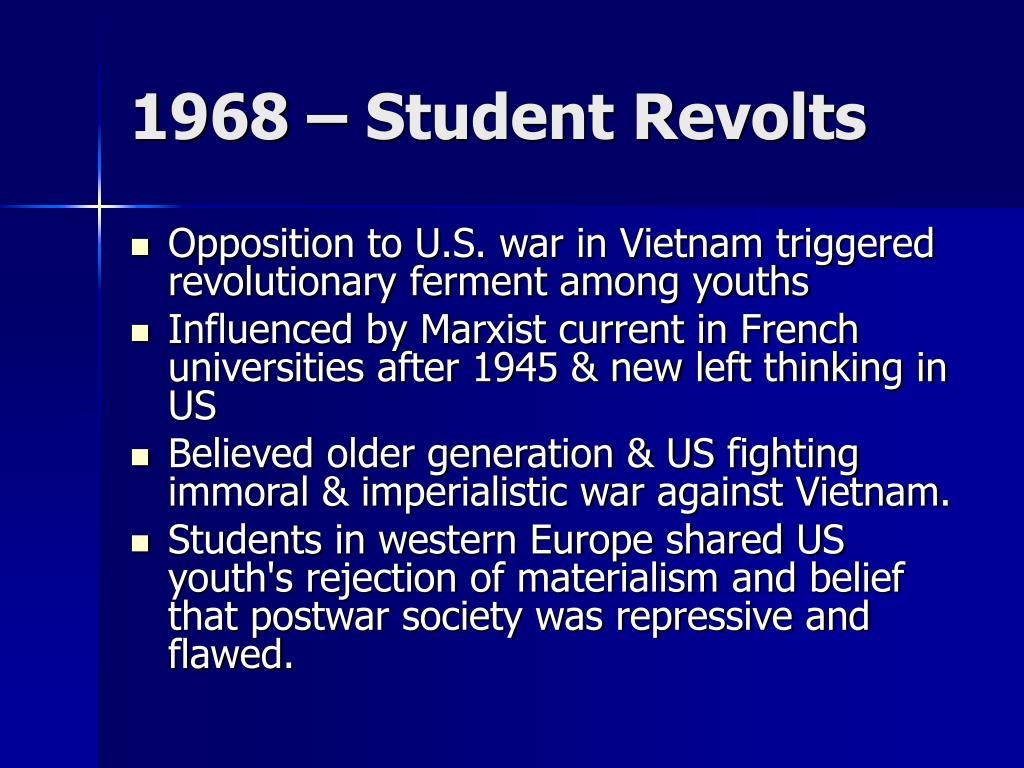 1968 – Student Revolts