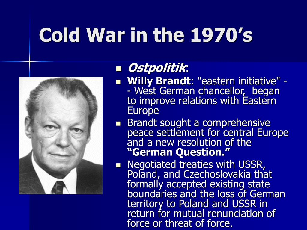 Cold War in the 1970's