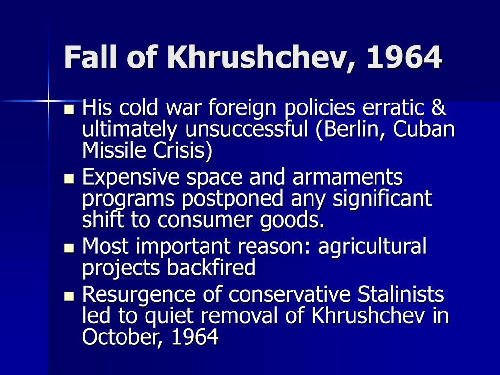 Fall of Khrushchev, 1964